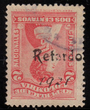 Colombia-341-Retardo1921Overprint
