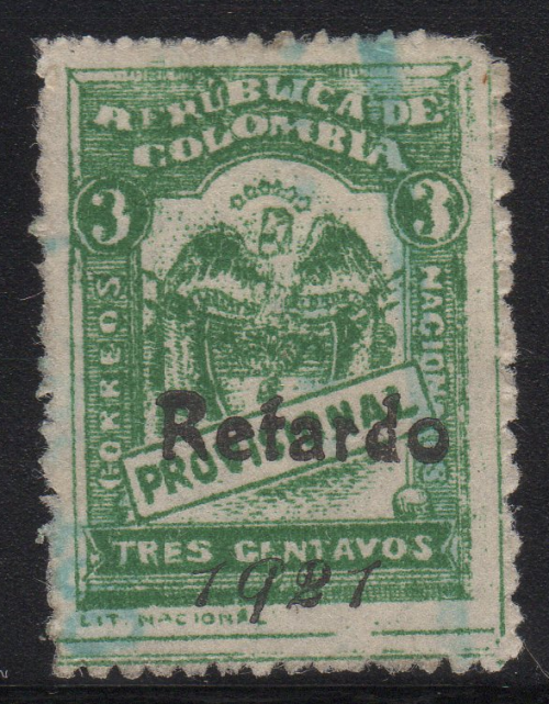 Scott #363 with Retardo 1921 Overprint Type III