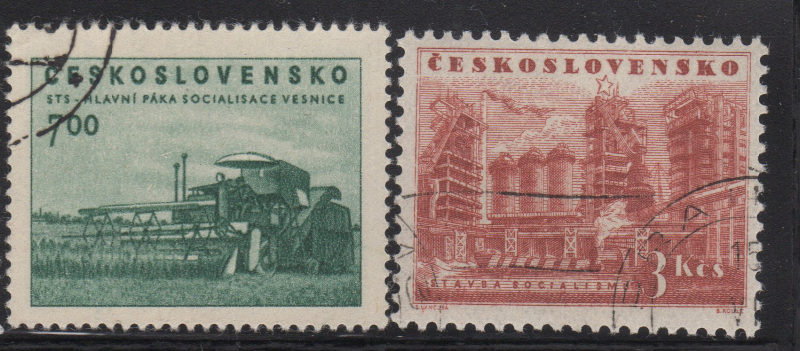 A few of the last stamps issued (May 8th) before the currency reform on June 1st