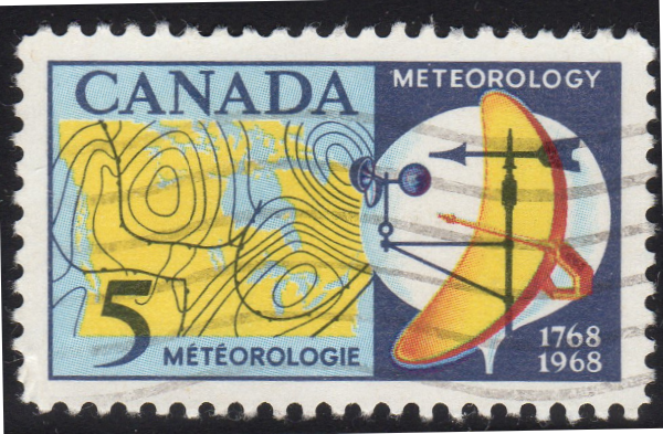 Canada #479ii - Red Over Blue