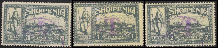 """T"" Postage Due Overprints in Purple"