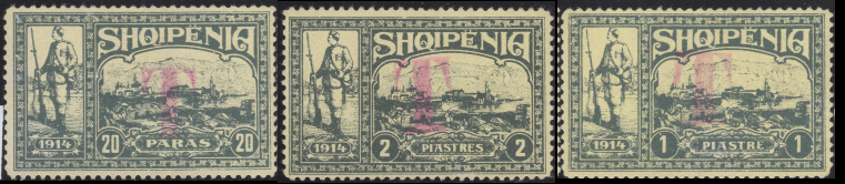 """T"" Postage Due Overprints in Red"
