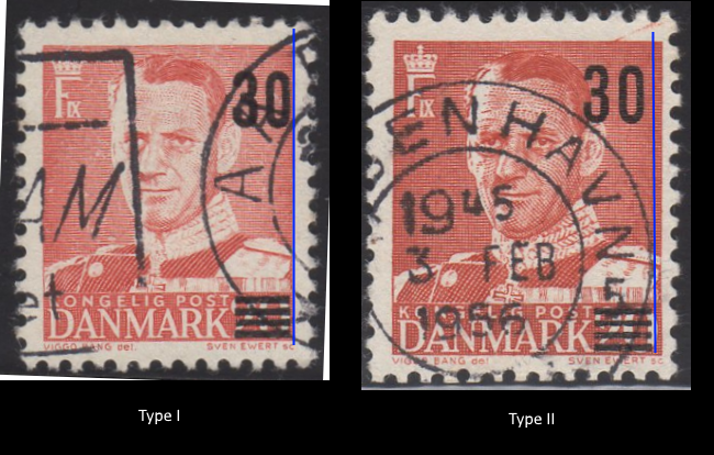 Frederik IX Type I and II Overprints