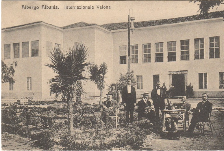 Back of Postcard featuring scene in Valona